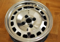 masserati 420 wheels polished